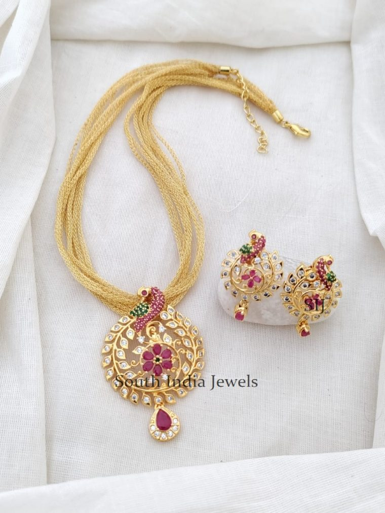 Awesome Multi Layered Peacock Necklace