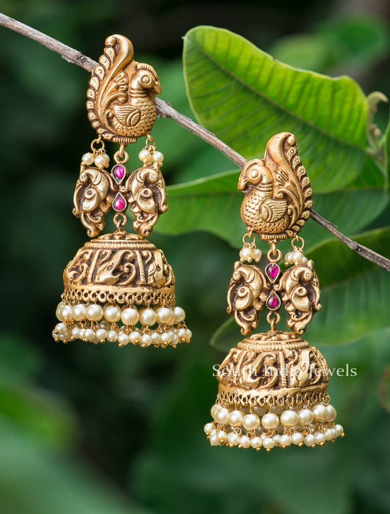 Beautiful Design Peacock Jhumkas