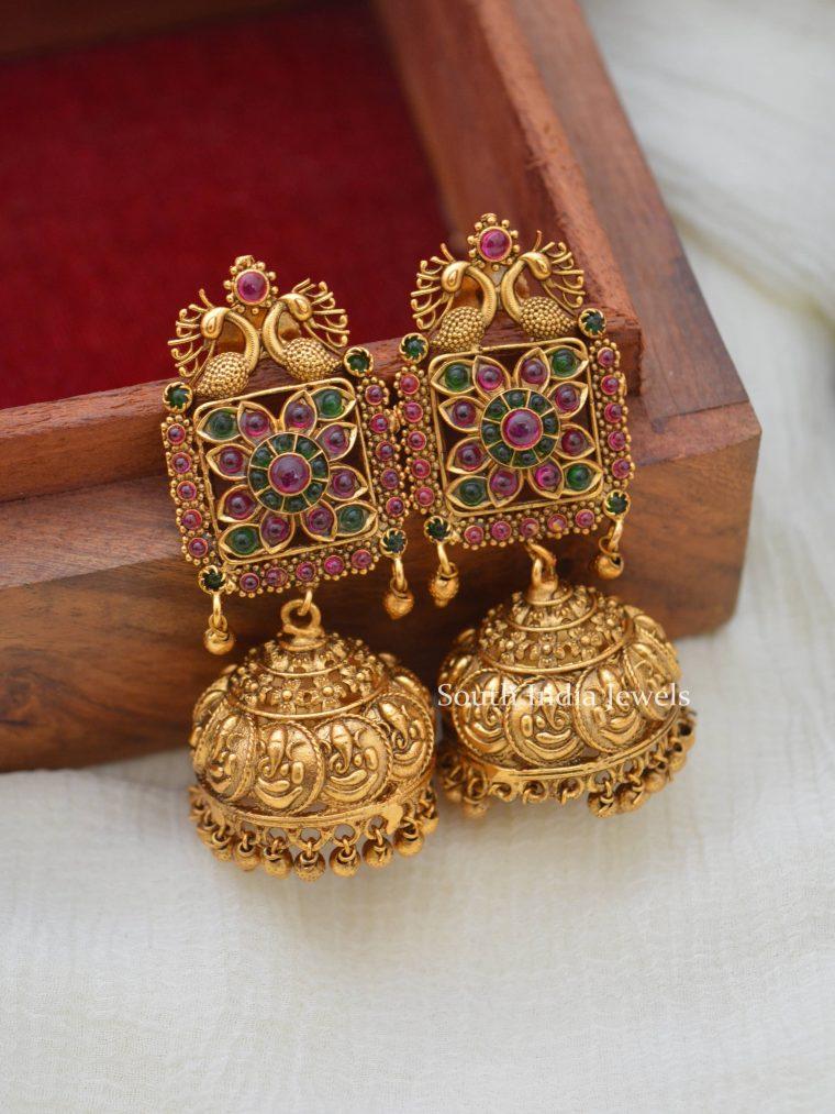 Beautiful Ganesha Peacock Jhumkas