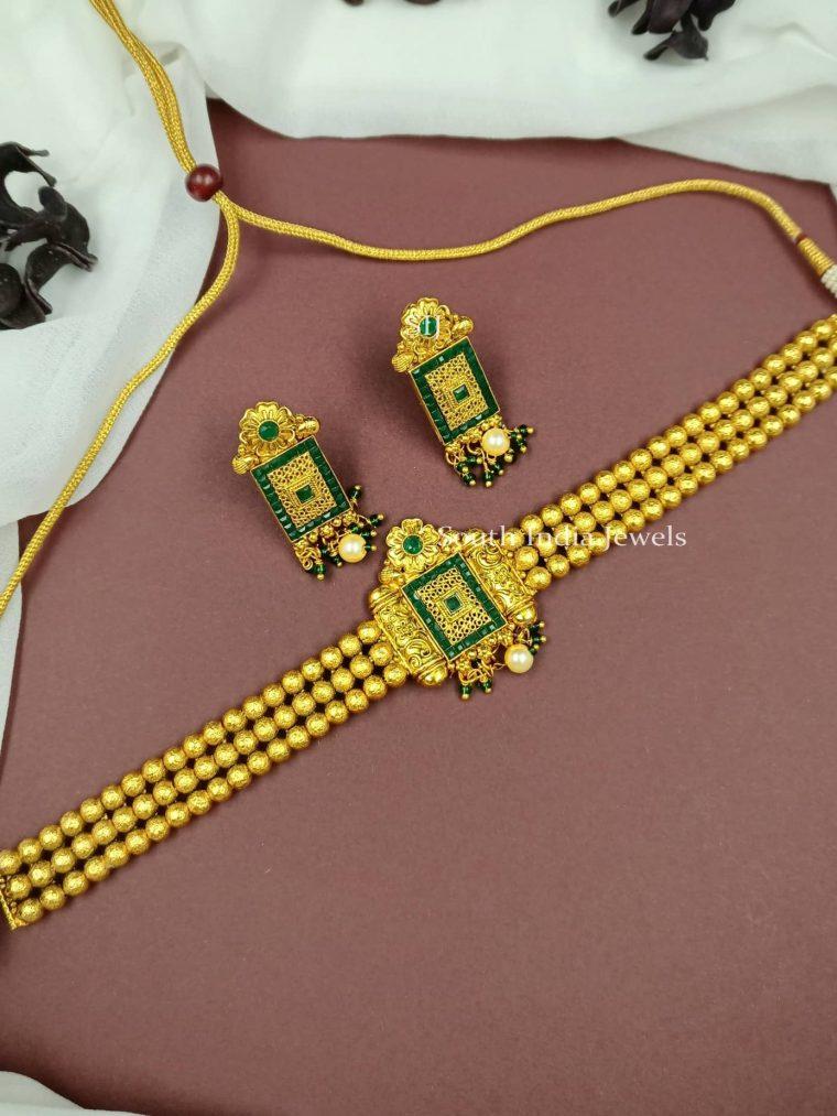 Beautiful Golden Beads Choker