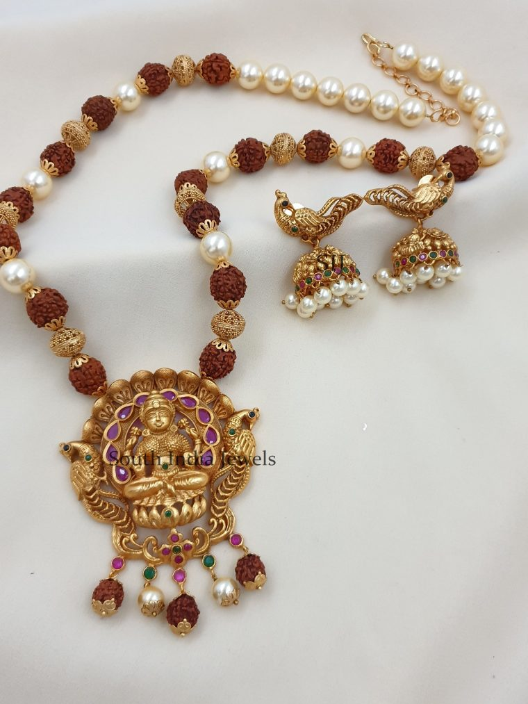 Beautiful Lakshmi Peacock Designer Haram (3)