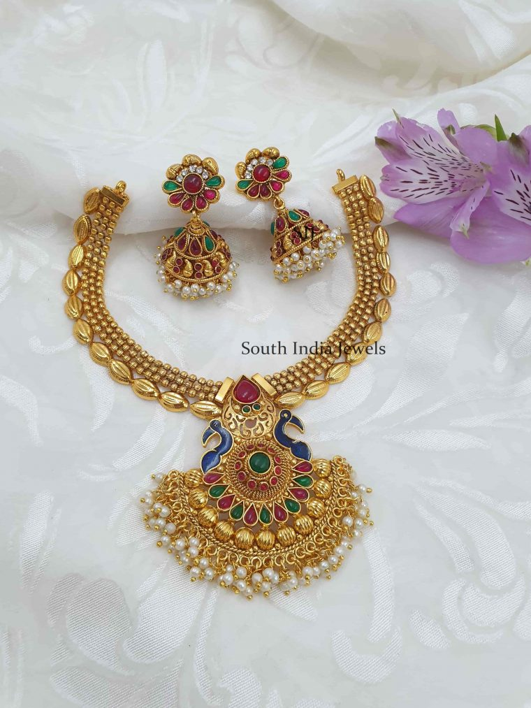 Beautiful Peacock Antique Necklace