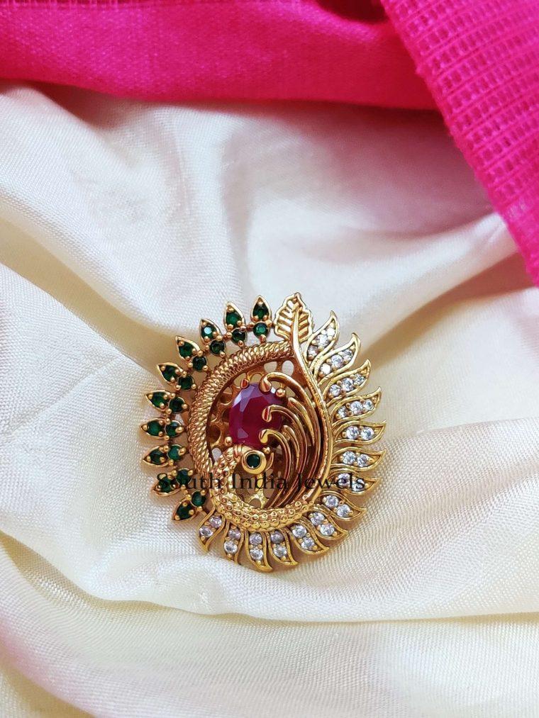 Beautiful Peacock Design Finger Ring