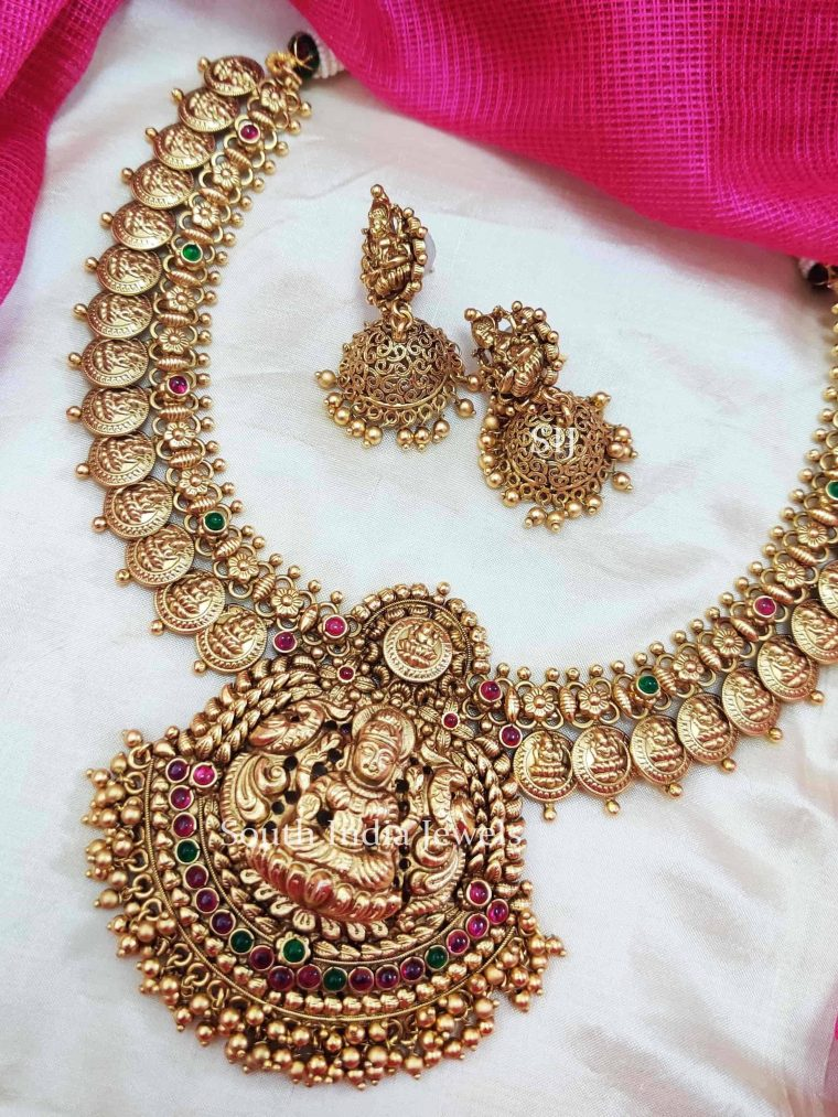 Bridal Grand Lakshmi coin Necklace.