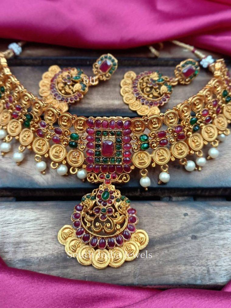 Bridal Lakshmi Coin Design Choker
