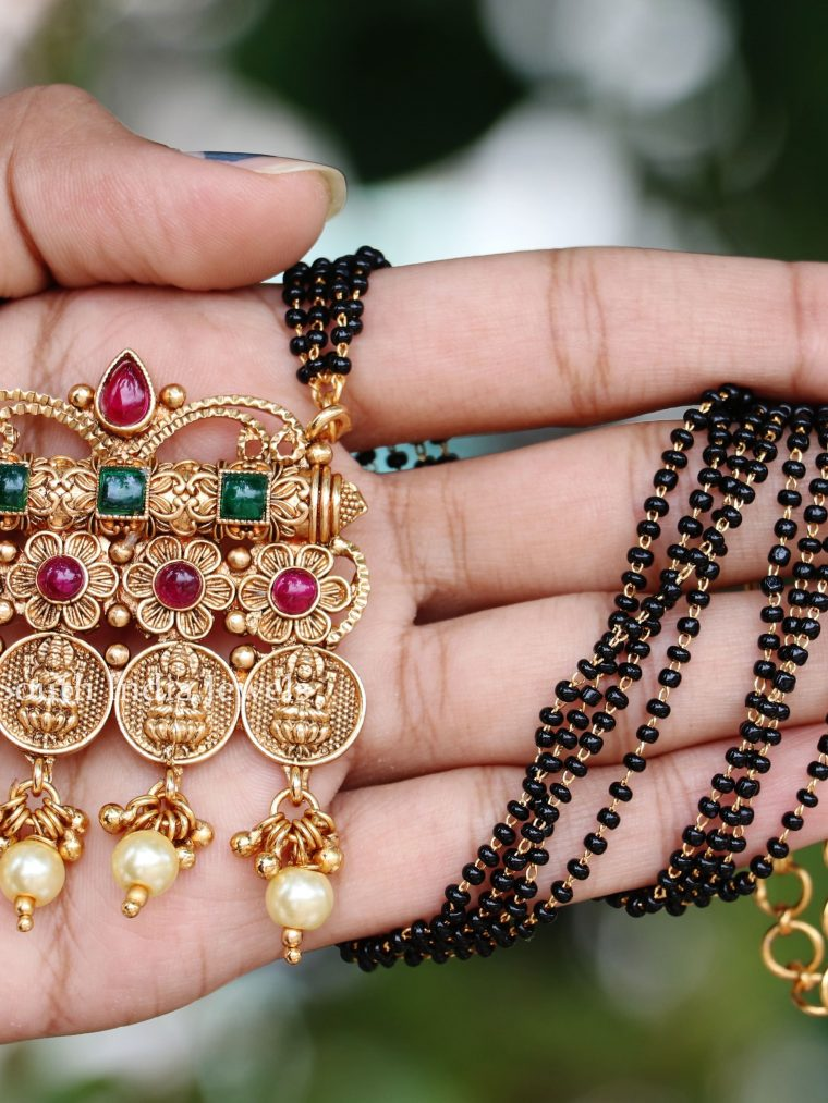 Classic Lakshmi Coin Design Mangalsutra