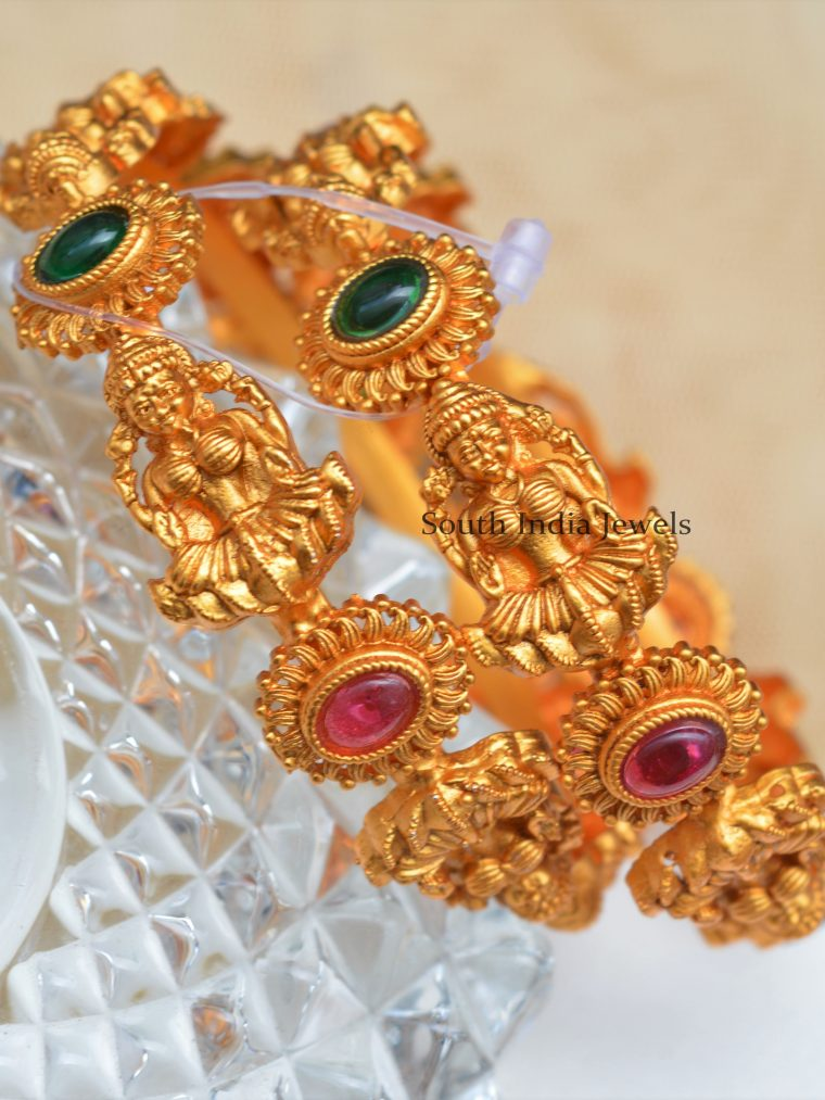 Classic Lakshmi designer kemp stones bangles.