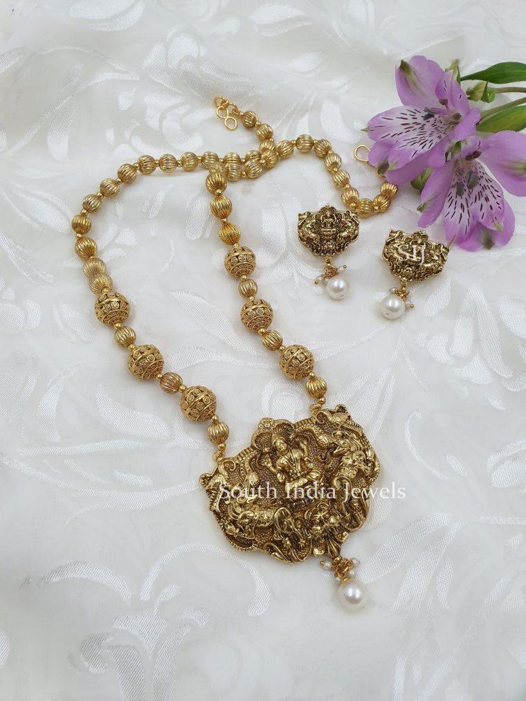 Classic Lakshmi Designer Beads Necklace