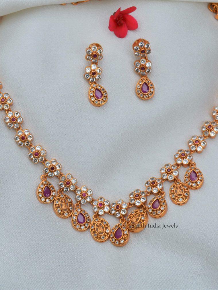 Classic Lakshmi Designer Ruby Necklace