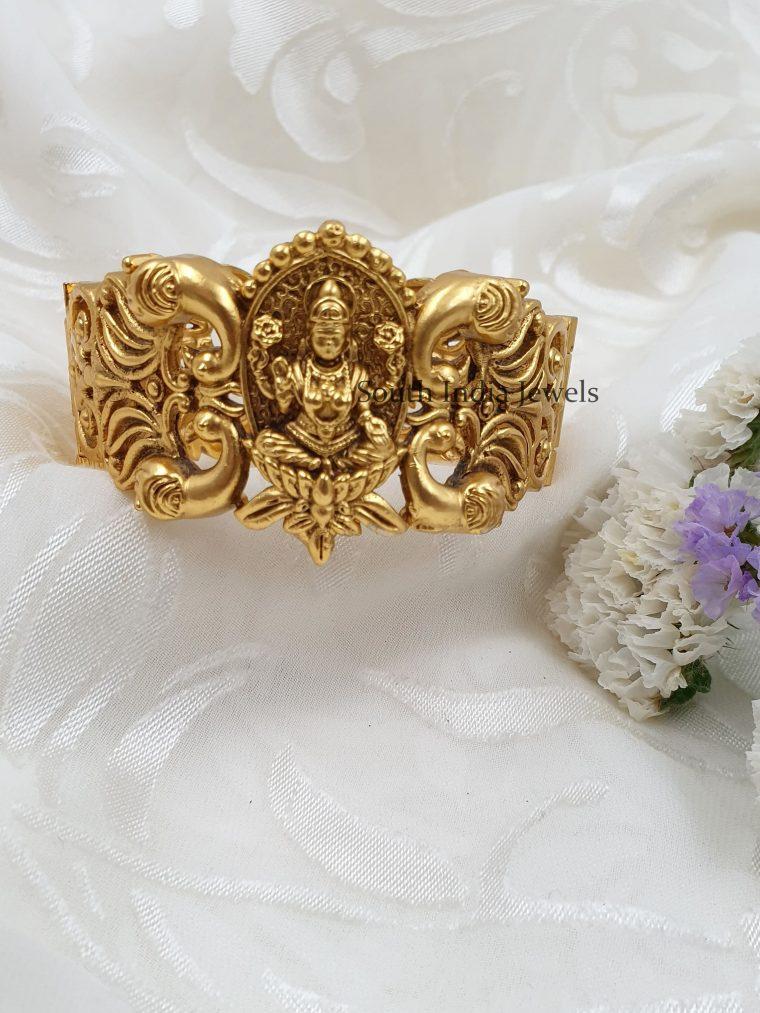 Classic Lakshmi Peacock Design Kada Bangle (3)