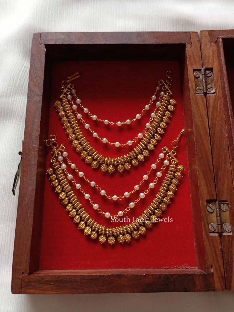 Classic Laxmi Coin Ear Chain