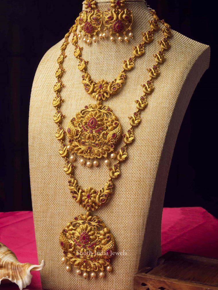 Double Line Temple Jewellery Combo Set