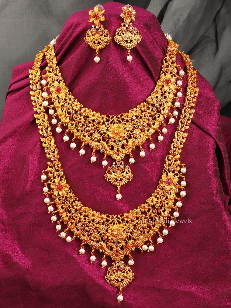 Elegant Combo Temple Jewellery Set