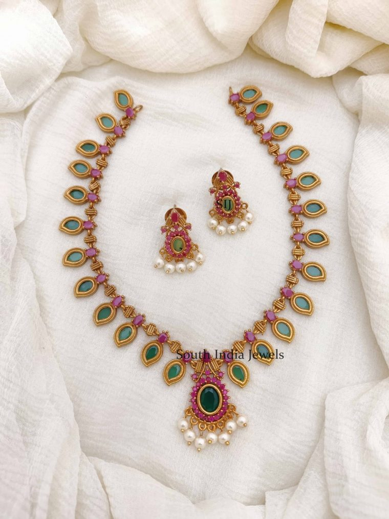 Elegant Mango Design Necklace