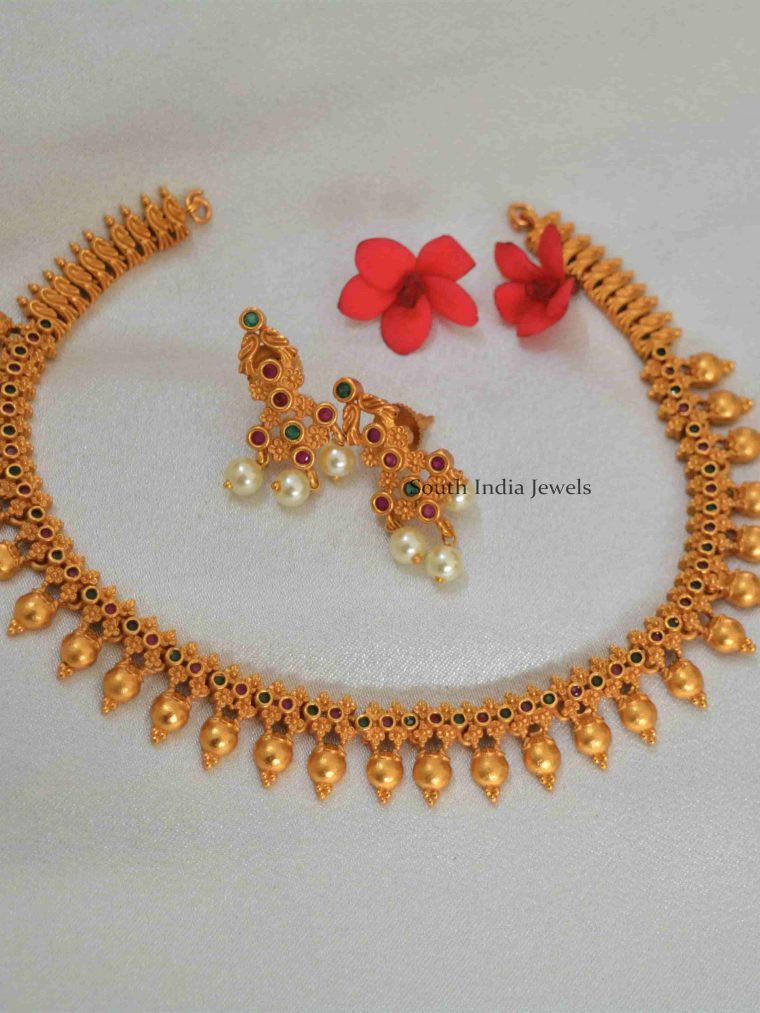 Elegant Ruby Emerald Designer Necklace