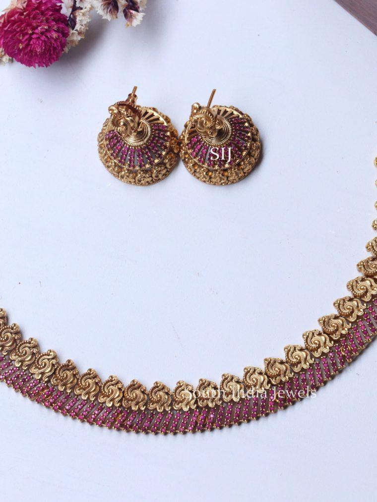 Elegant Ruby Stones Necklace