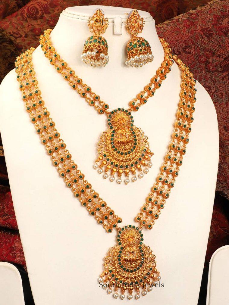 Elegant Temple Jewellery Combo Set