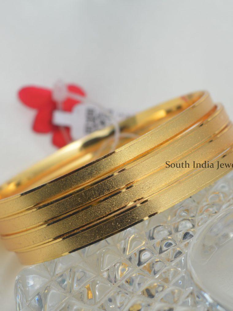 Exquisite Gold Finish Bangles(Set Of 4)