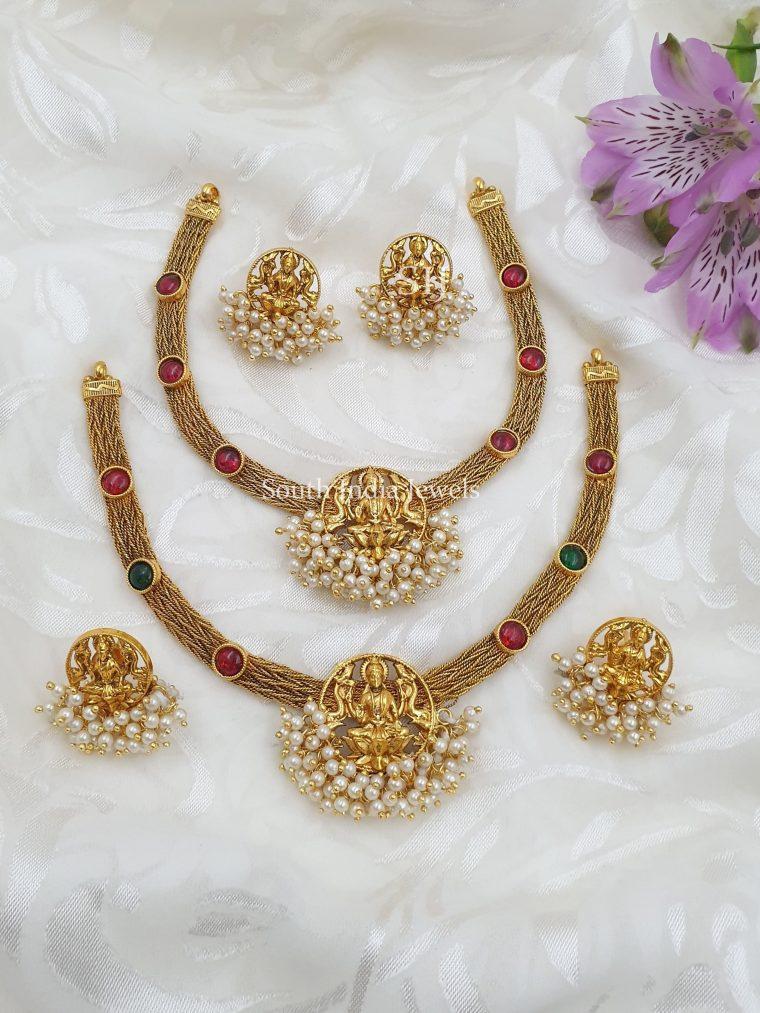 Exquisite Lakshmi Pearls Necklace (2)