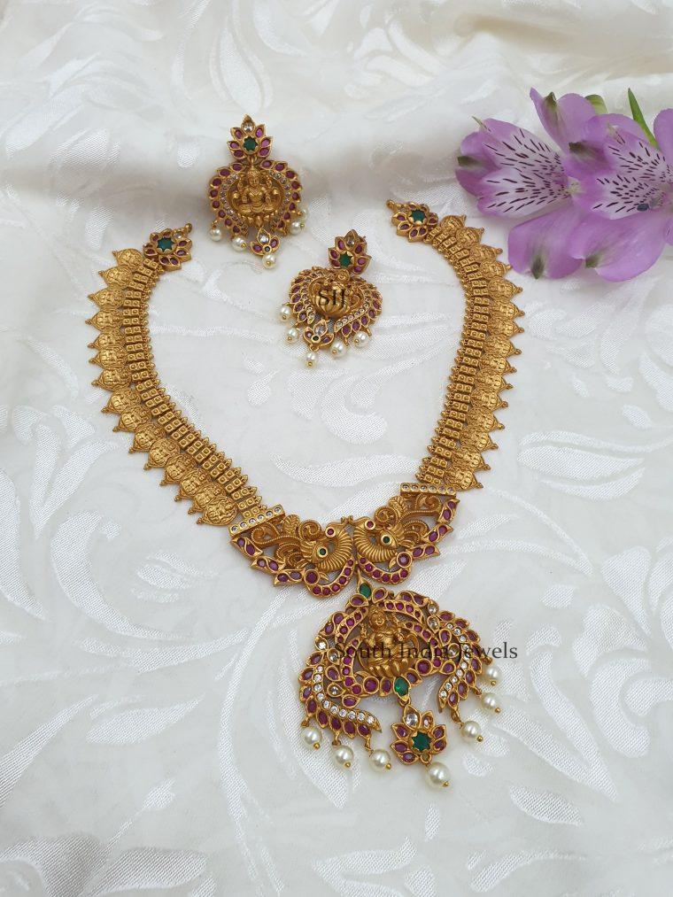 Exquisite Multi Color Lakshmi Coin Necklace (3)