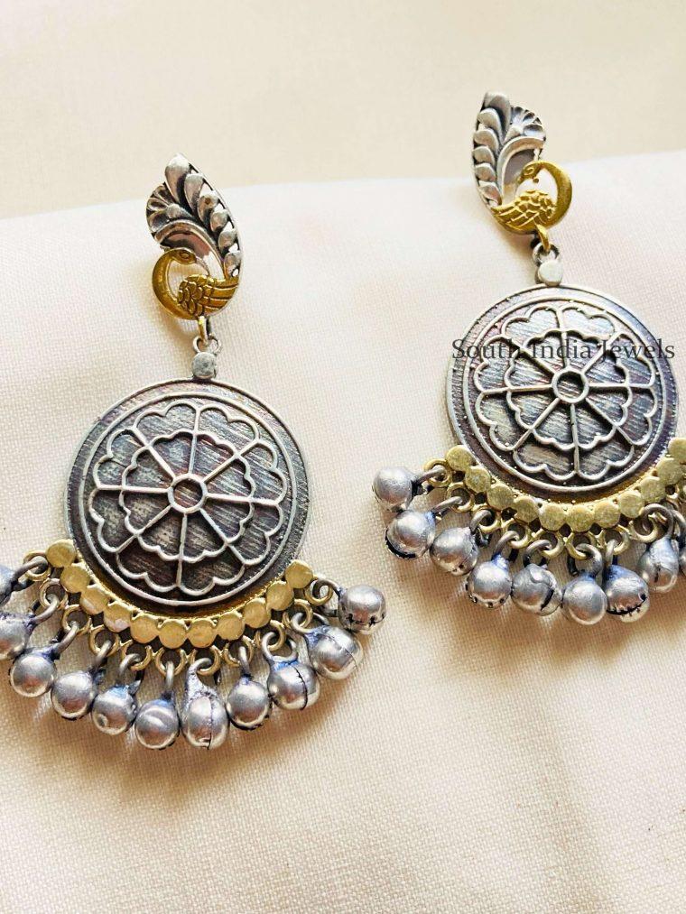 Ghungroo Dangler German Silver Earrings (2)