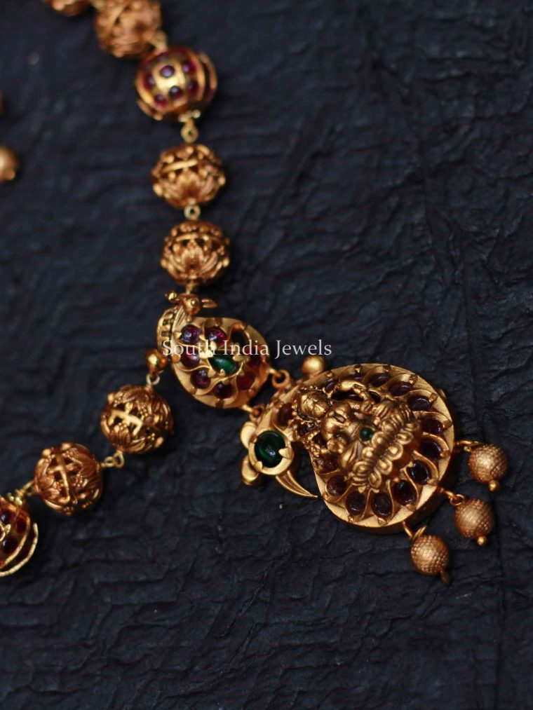 Gold Plated Peacock Nekclace