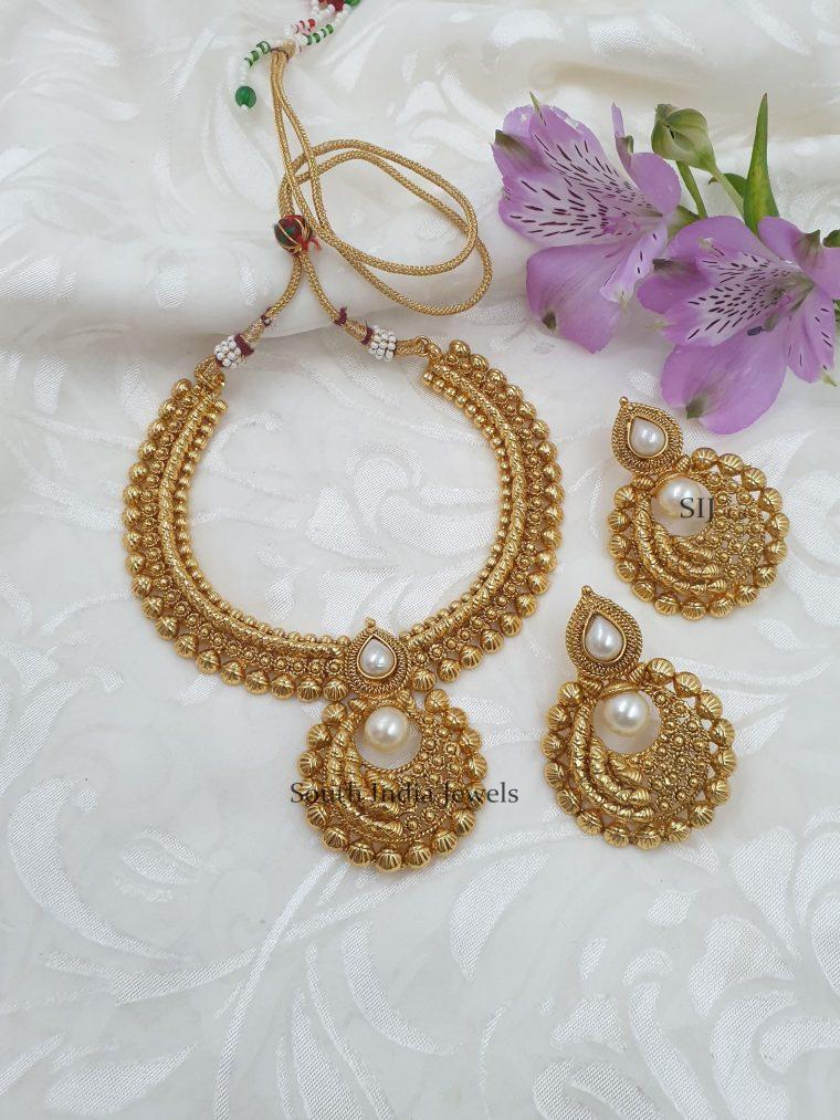 Gorgeous Antique Chandbali Necklace