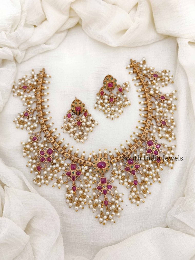 Gorgeous Bridal Guttapusalu Necklace