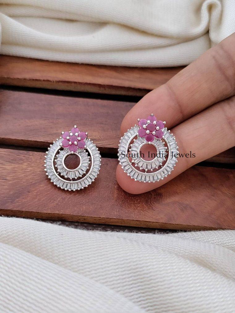 Gorgeous CZ Stone Bali Earrings
