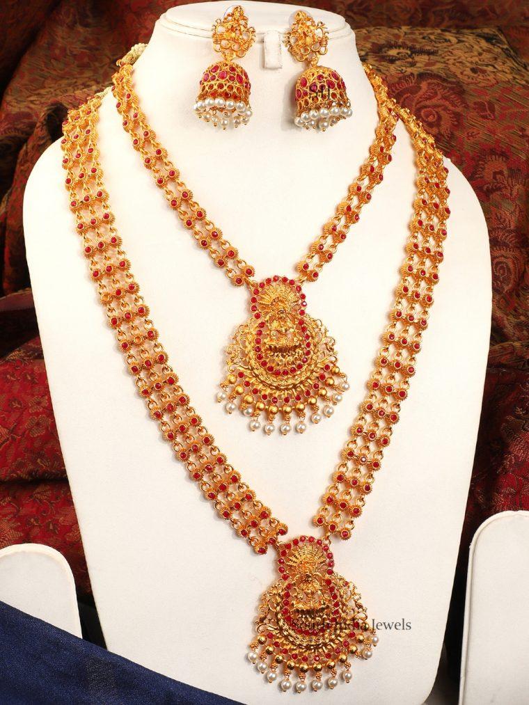 Gorgeous Combo Temple Jewellery Set