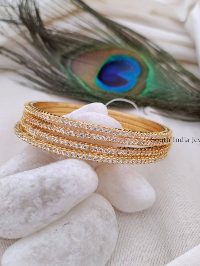 Gorgeous Real Diamond CZ Stone Bangle