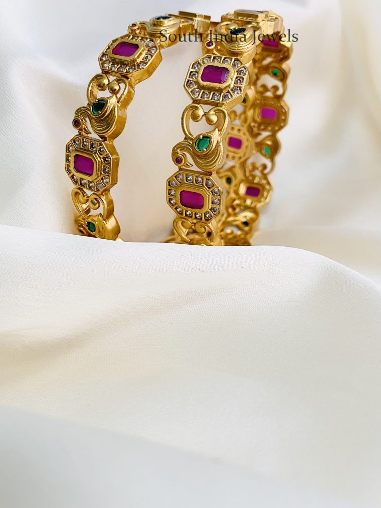 Gorgeous Ruby Peacock Bangles (2)