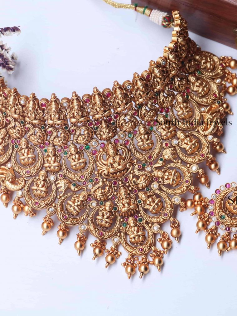 Grand Bridal Lakshmi And Design Necklace (2)