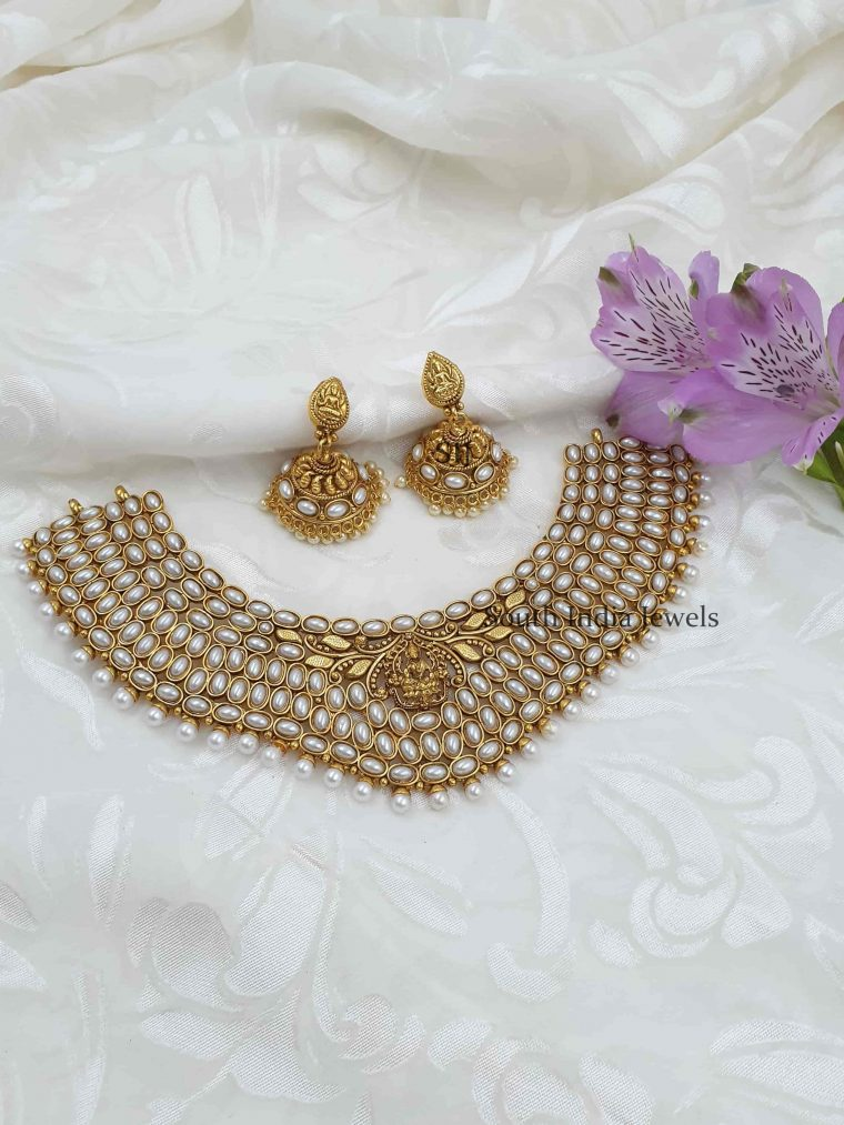 Grand Pearl Antique Necklace Set