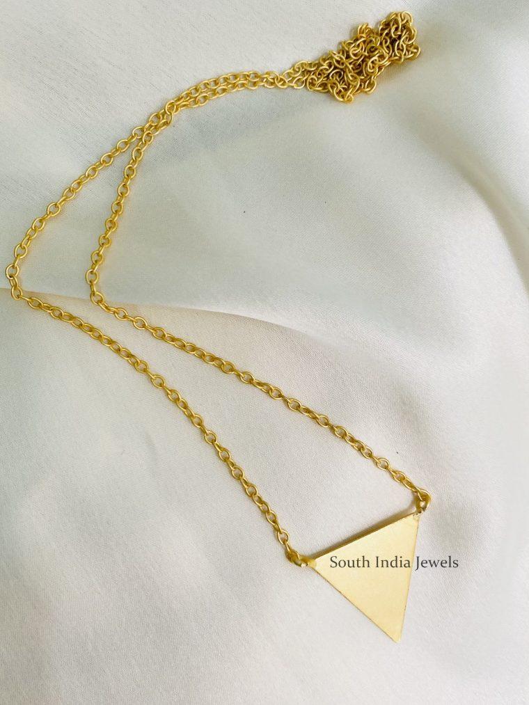 Matte Finish Handmade Triangle Chain