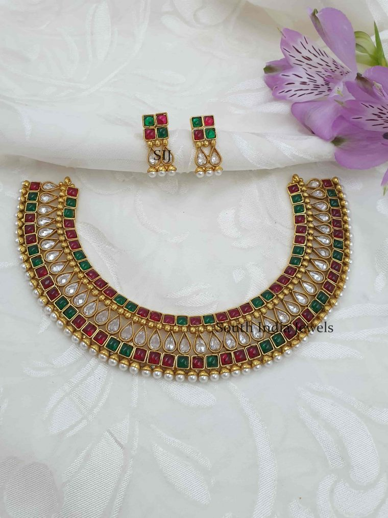 Multi Stone Antique Necklace