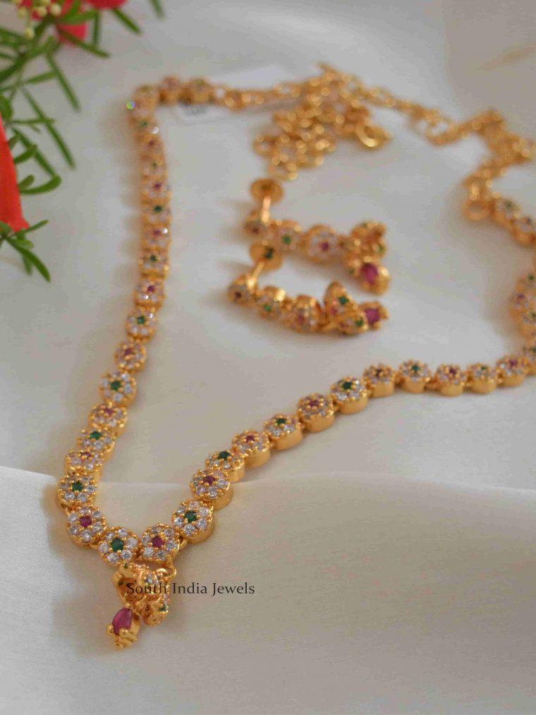 Multicolor Floral Designer Necklace