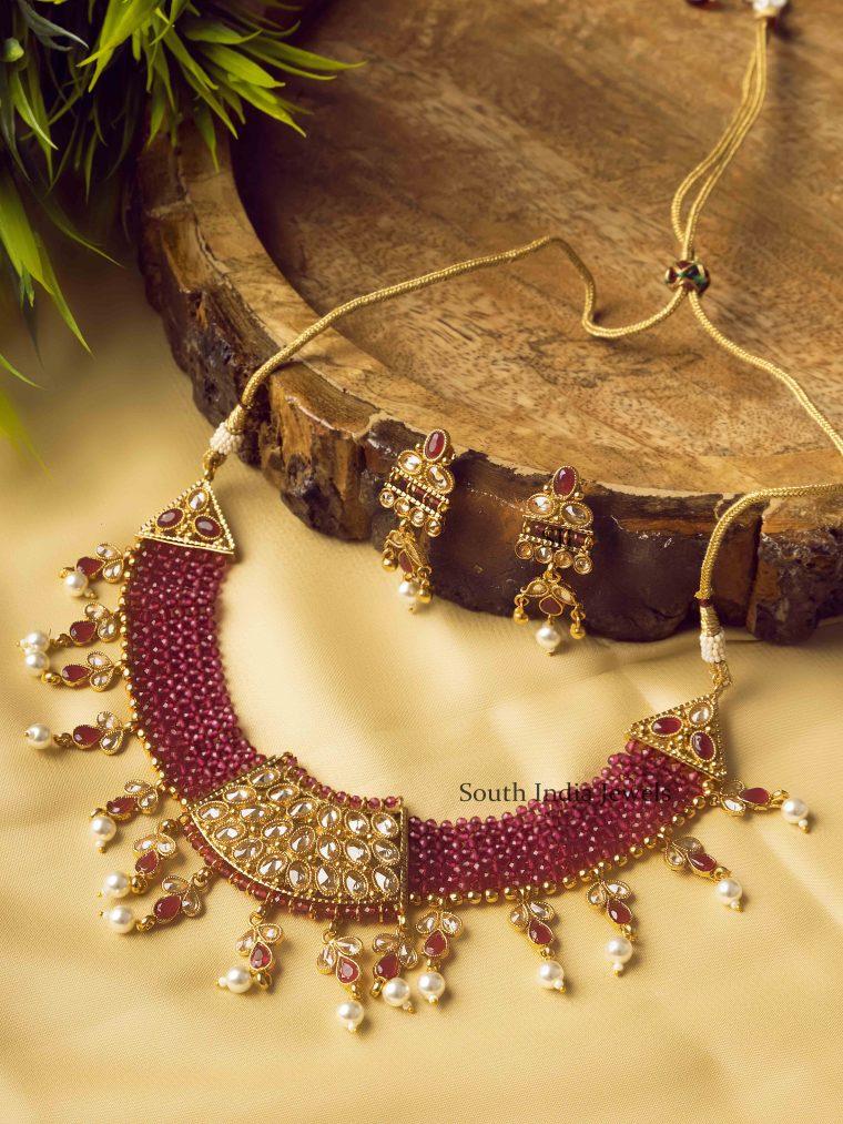 Premium Quality Purple Pearl Necklace