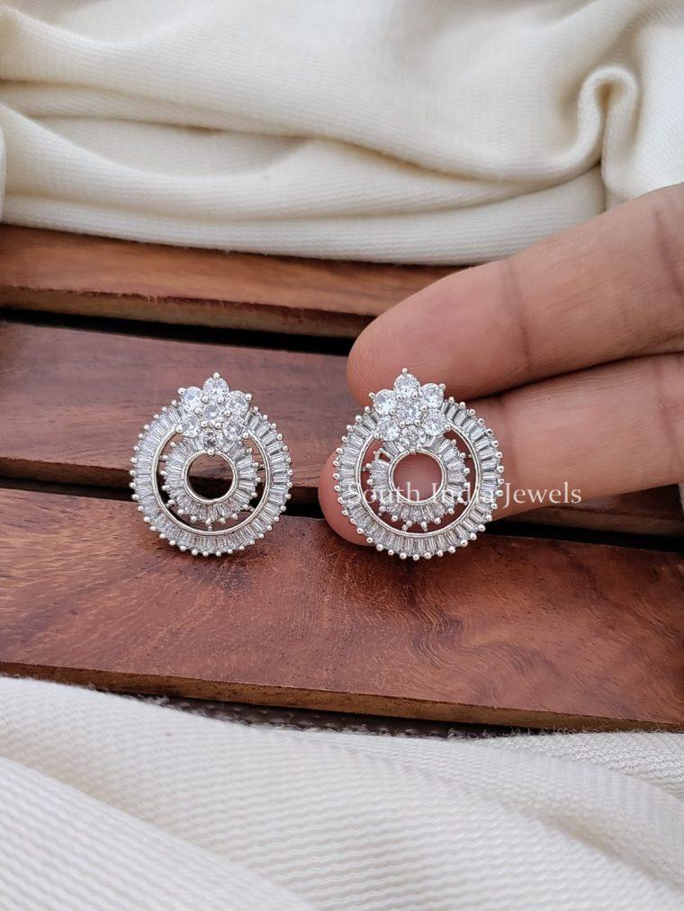 Pretty CZ Stone Bali Ear Ring