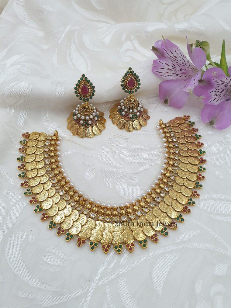 Rich And Royal Lakshmi Coin Necklace