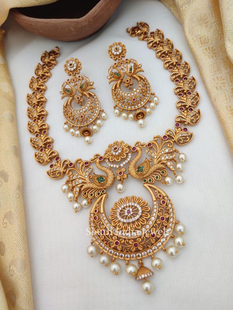 Rich Peacock Design Bridal Necklace (2)