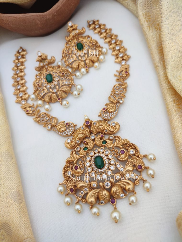 Royal Peacock AD Stones Necklace (2)