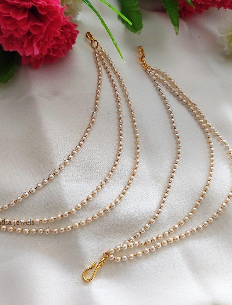 Royal Three Layered Pearls Maatal