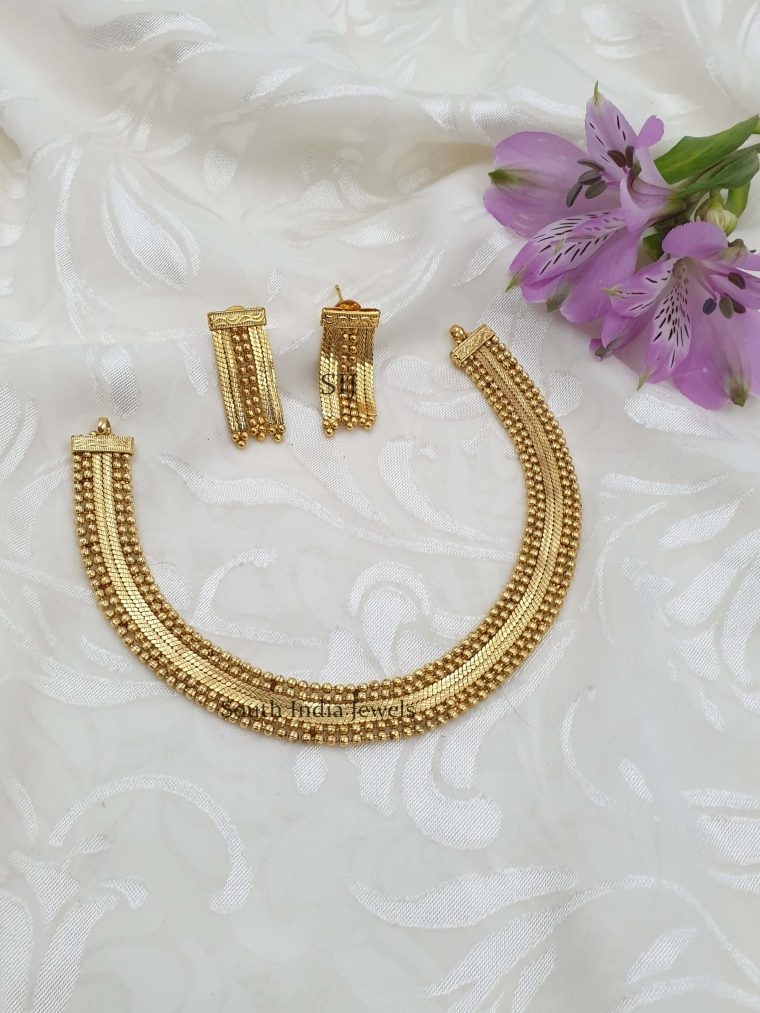 Simple Design Antique Necklace (2)