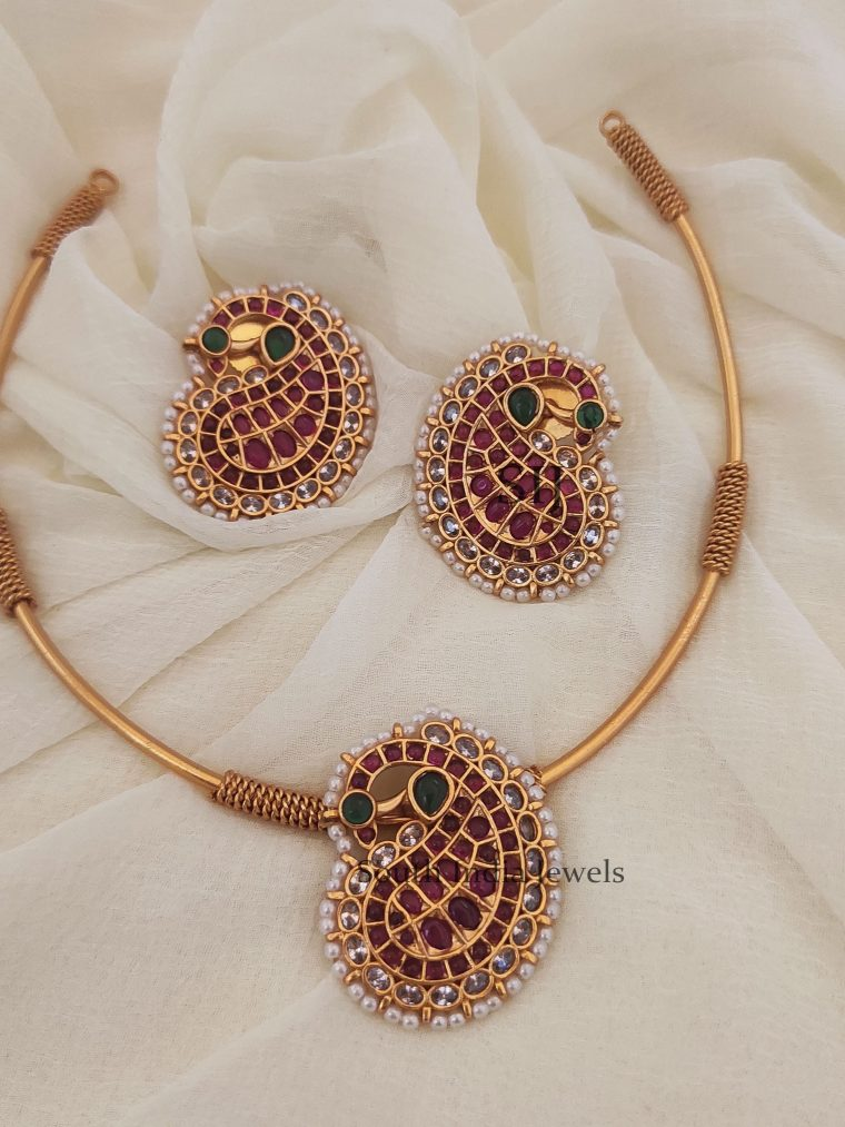 Simple Mango Tube Design Necklace