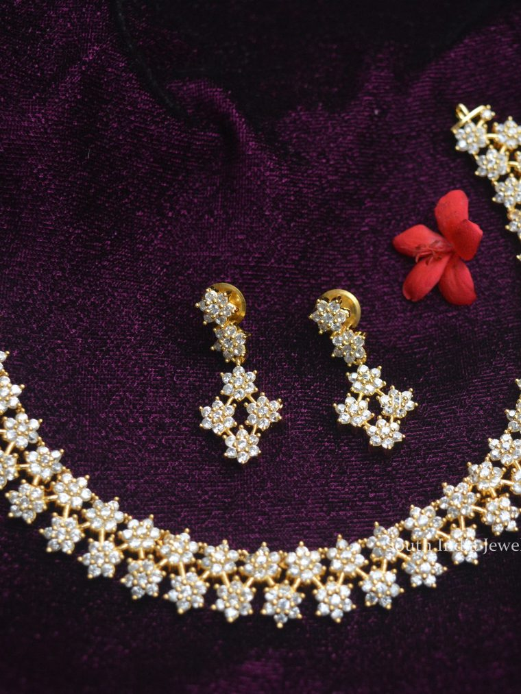 Stunning AD Star Necklace