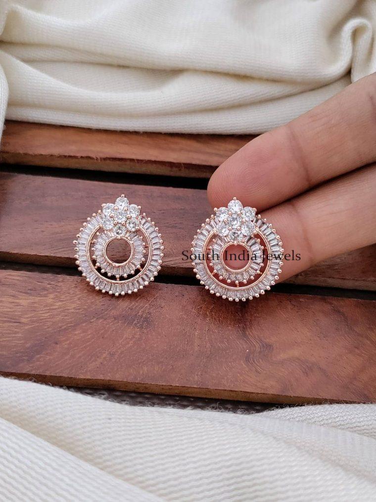Stunning CZ Stone Bali Earrings