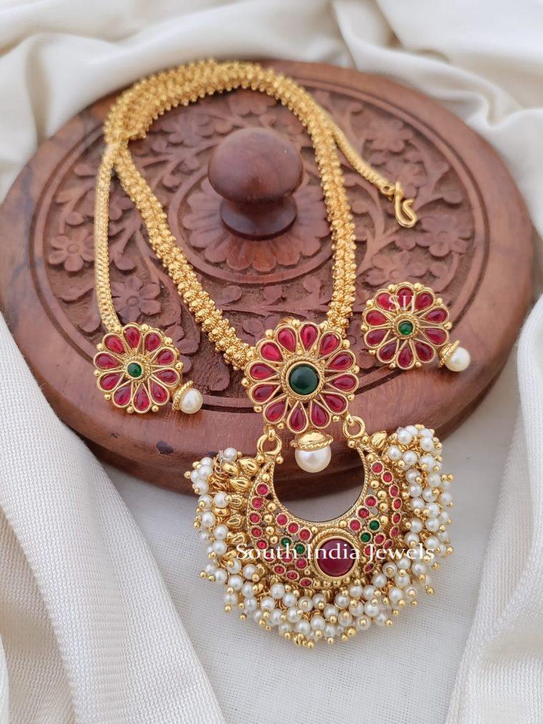 Stunning Floral Kemp Pendant Necklace