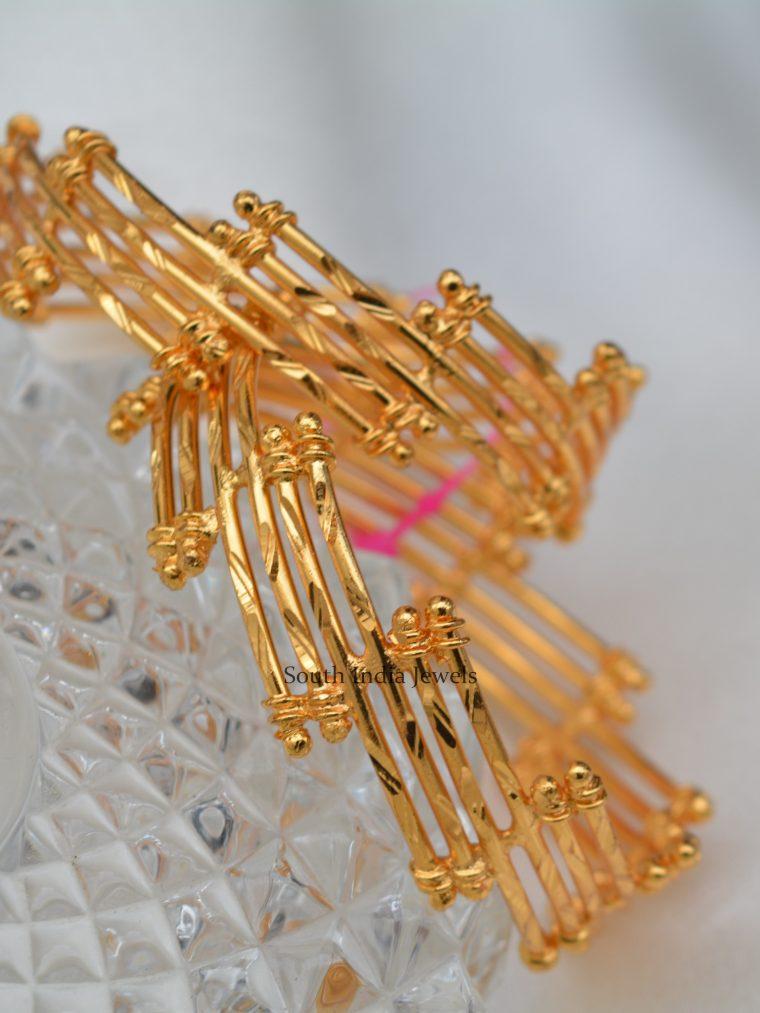 Stunning Gold Polish Cross Designer Bangles