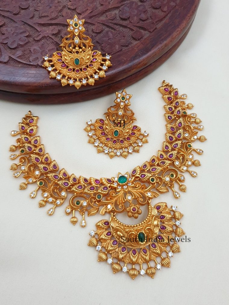 Stunning Matte Finish Designer Necklace